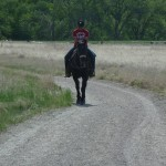 horseback rider on Sand Creek Trail in Colorado
