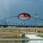 St. Vrain Greenway trail sign