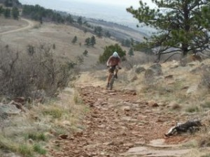 mountain biker on Colorado trail